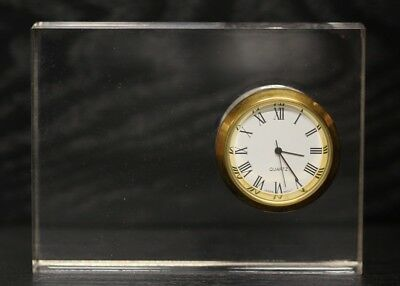 New Clear Acrylic Desk Clock with Classic Roman Numeral Face 4