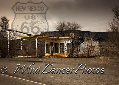 Old Gas Station  Route 66  Infused Aluminum Print  Retro  Southwest  Americana