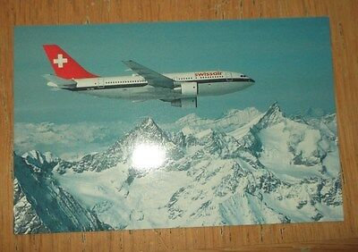 Swissair Airbus A310 branded postcard MINT CONDITION