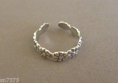 Sunflower toe ring genuine .925 sterling silver