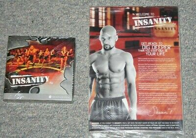 New Beachbody Shaun T Insanity Workout DVDs Printed Guide