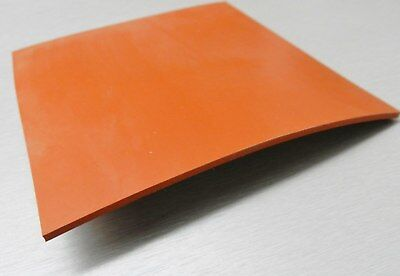 Silicone Rubber Sheet High Temp Solid Redorange Commercial Grade 14 X14 X14