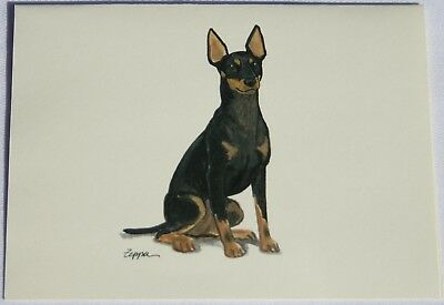 Manchester Terrier Toy (Toy Manchester Terrier Dog Zeppa Studios Fur Children Note Cards Set of 8 )