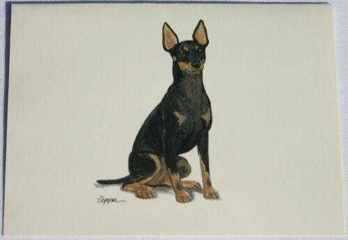 Toy Manchester Terrier Dog Zeppa Studios Fur Children Note Cards Set of 8