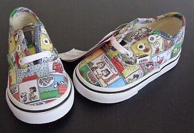VANS Comic Strip PEANUTS Toddler size 5 Shoes NEW No Box Charlie Brown Halloween - Peanuts Halloween Comics