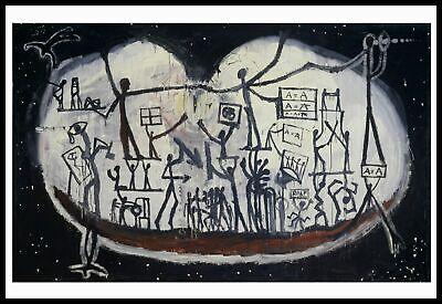 a.r. Penck Kunstkarte Postkarte nicht signiert