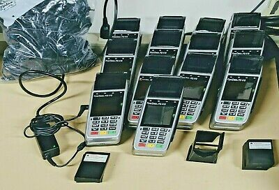 Lot Of 13 First Data Fd410 Wireless Credit Card Terminals With Power Supplies