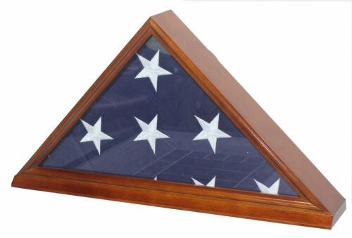 Burial Memorial Flag Display Case for 5