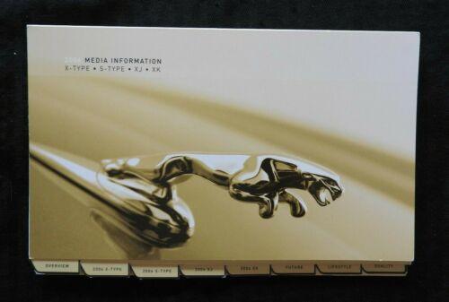 2002 JAGUAR X-TYPE XJ XK S-TYPE FULL-LINE Press Kit MEDIA GUIDE PHOTOS DVD MINTY