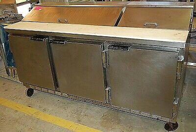 Beverage Air Sp72-18 Sandwich Prep Table Cooler 3 Door Refrigerator