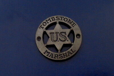 Tombstone Marshal mini badge lapel pin AZ arizona US police