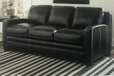 Black leather queen size sofa bed. Brand New in box...$800 or best