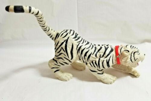 White Exotic SIBERIAN TIGER Big Cat Wildlife Collectible Hard Plastic Figure