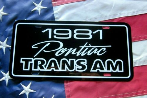 1981  Pontiac Trans Am  License plate tag 81 Firebird T/A