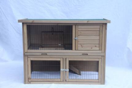 Rabbit and guinea pig hutch with tray(WP-R837)
