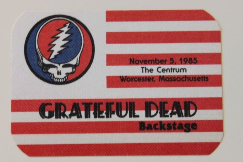Grateful Dead Backstage Pass 11-5-85 The Centrum MA