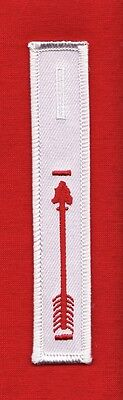 BROTHERHOOD WHITE DANGLE XL Order Arrow OA Sash Pocket Patch