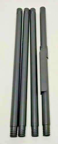Tiki Convertible Torch Replacement Extra 4 Pc Adjustable Height Black Pole Set
