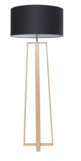 Large Titan Floor Lamp with black shade (Freedom)