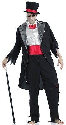 Herren Toter Zombie Geist Leiche Bräutigam Halloween Kostüm Kleid Outfit M-XL