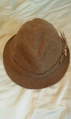 VINTAGE BORSALINO Grand Prix Paris 1900 men's tweed Fedora hat