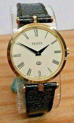 XFine+~Gucci 2000M Swiss Quartz Mens 18K GP Red & Green STACK Watch~All Original