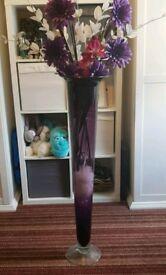 Large purple vase