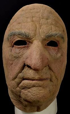 Old Man Face Mask Scary Halloween Haunt Costume Accessory Geezer](Old Scary Costumes)