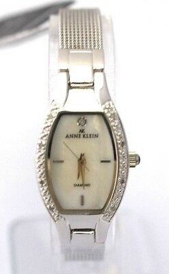 ANNE KLEIN 10/8789MPSV Women Mesh Band Mother of Pearl Dial Retail $110