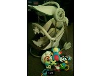 Mamas and papas baby swing and some lovely toys
