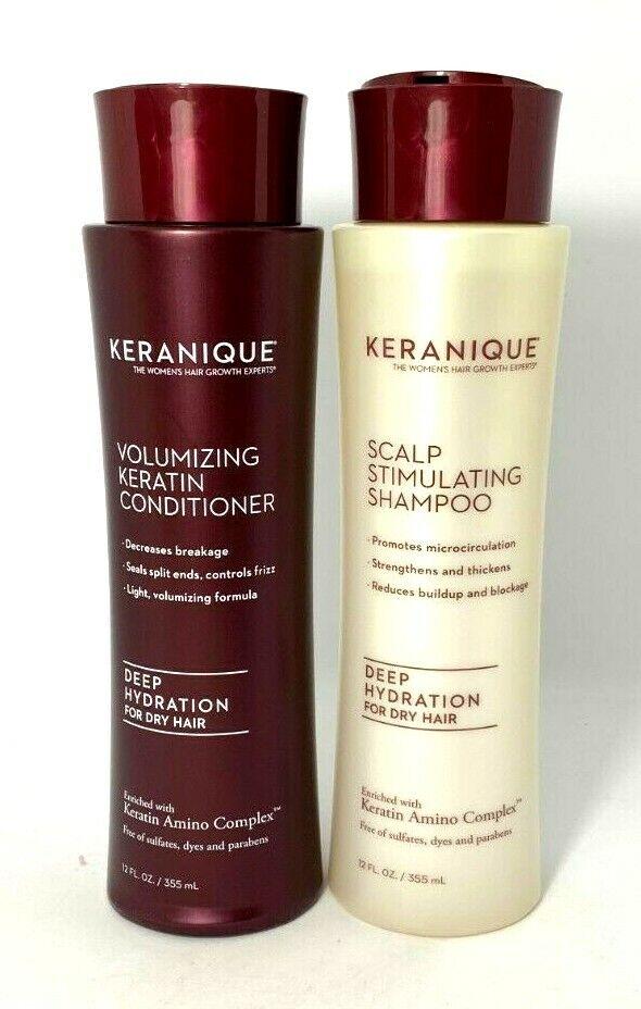 Keranique Shampoo & Conditioner Duo Deep Hydration ~ 12 oz/e
