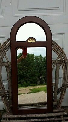 Elegant Arched-Top  Wood Frame Wall Mirror- made in Taiwan