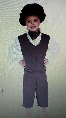 Boys Victorian Poor Peasant Boy Costume Fancy Dress outfit  Oliver twist 7 - 9 - Peasant Boy Costume