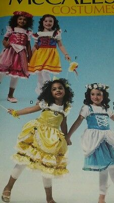 Heidi Costume Child (NIP McCALLS COSTUMES HEIDI GRETEL SNOW WHITE PATTERN M6619 GIRL'S  3-8 FF UNCUT)
