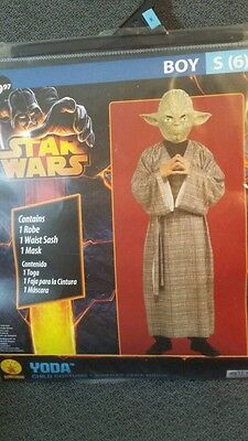 Yoda Girl Costume (Star wars jedi master YODA halloween dress up costume size small 6 new sealed)