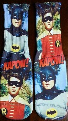 Custom Batman and Robin classic socks III IV V legend gama bred 11 XI ](Robin Socks)