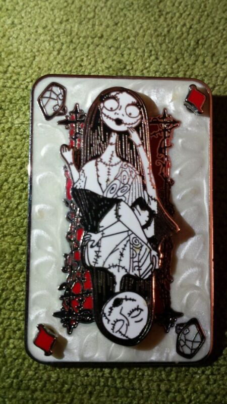 Disney Nightmare Before Christmas Sally Queen Hearts Playing Card Surprise Pin