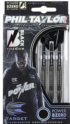 Target Dart - Phil Taylor 8Zero Black Titanium 24g Steel-Dart Dartpfeile NEU&OVP