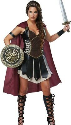 Female Glorious Gladiator Costume Deluxe Adult Womens Roman Greek Warrior Armor