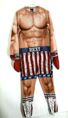 Boxing Costume Men (Rocky Balboa Adult Men Size Small 1 Piece Costume Union Suit Boxer)