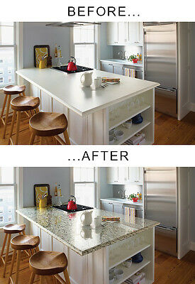 "Decorative faux beige-swarthy marble peel n stick vinyl 264"" x 48"" countertop haziness"