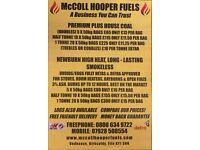 McColl Hooper Fuels, logs coal smokeless ovoids