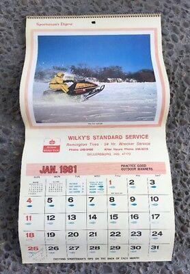 1981 Amoco Motor Club Wilky's Standard Service Wrecker Calendar Sellersburg Ind.