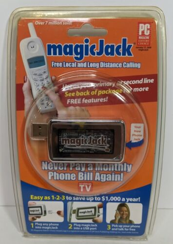 Magic Jack Free local & long distance telephone Calling service NOS New SEALED