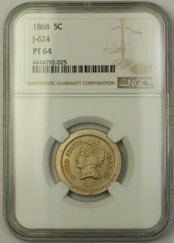 1868 Nickel Pattern Proof 5c Ngc Pf-64 *better Coin* J-624 Judd Ww