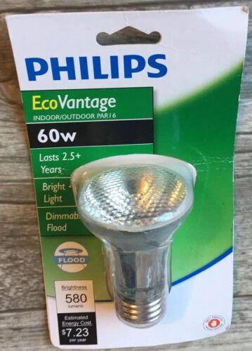 Philips 60W EcoVantage 120V Halogen PAR16 Flood Light Lasts
