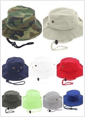 Newhattan 100% Cotton Boonie Bucket Men Safari Summer String