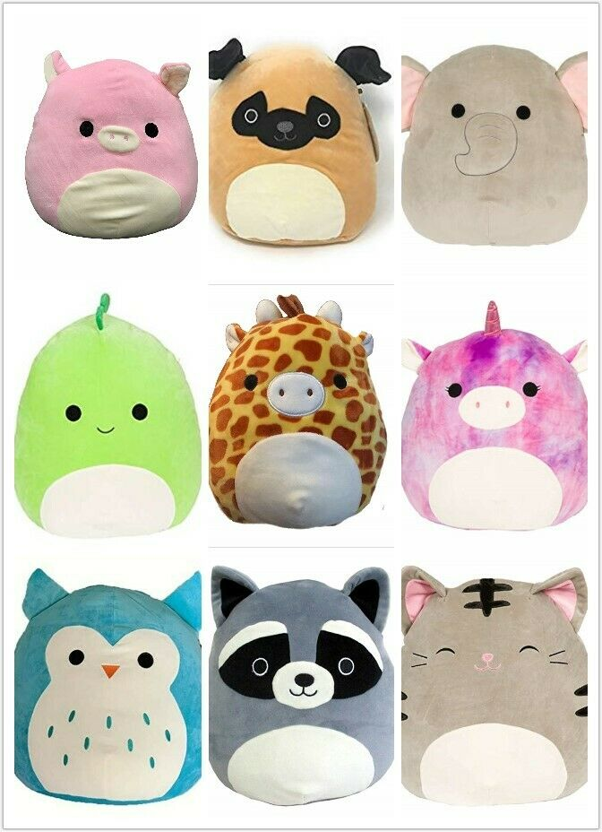 Squishmallow Super Soft Plush Toy Animal Pillow Stuffed Anim