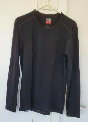 Icebreaker Mens Merino 260 Tech LS Crewe: Black: Medium - Top Shirt Thermal