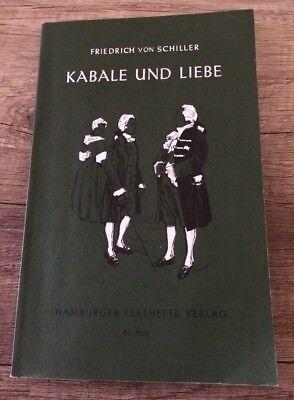 Taschenbuch Kabale und Liebe von Friedrich von Schiller gebraucht kaufen  Versand nach Austria